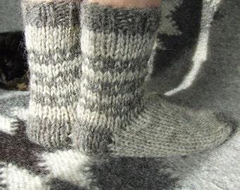 women  men Socks knitted wool  Knitted gift Soft cozy knit socks Woolen female socks Knitted womens socks Short ankle socksKnit slippers