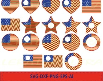 60 % OFF, American Flag svg Cut Files,  USA Svg, Love usa Svg, American Flag Monogram svg, Chevon American Flag SVG, dxf, ai, eps, png