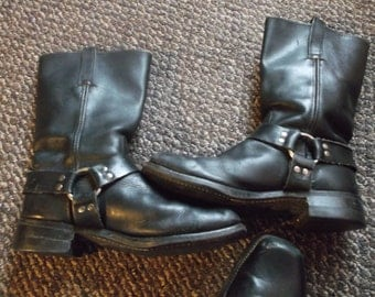 Men's Frye Harness Boots Motorcycle Boots Biker Boots TRASHED BOOTS