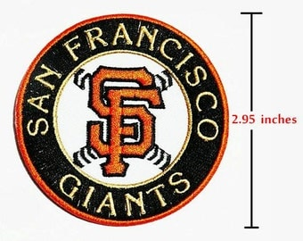 SAN FRANCISCO GIANTS Logo Embroidery iron-sewing-patch on fabric