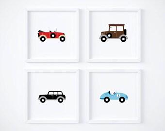 Boys Room Classic Cars Wall Art - Vintage Cars Printables - Nursery Decor - Classic Cars - Boys Decor - Baby Print - Digital Nursery Prints