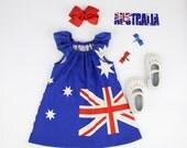 Happy Australia Day dress size 12mths