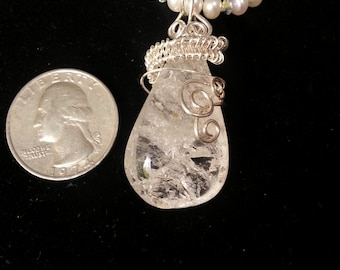 Quartz and Sterling Necklace