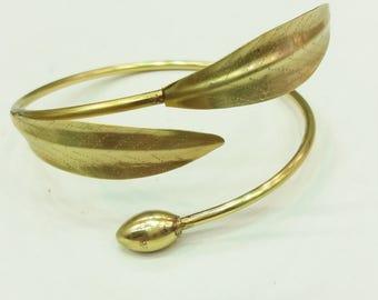 Olive leaf bronze bracelet.