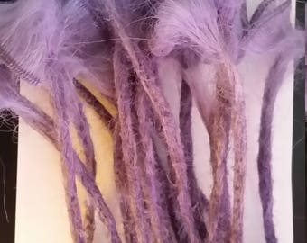 Synthetic Dread Lock extensions. Light Purple. One ended.