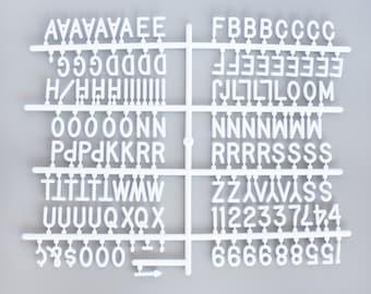 Large 290 Character Helvetica Sprue Letter Set for Felt Letter Boards