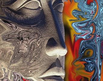 1111-07 Paros marble head…