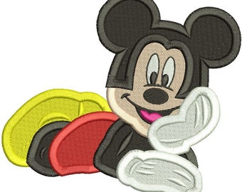 Mickey Mouse Embroidery Design Filled Stitch 3 sizes instant download