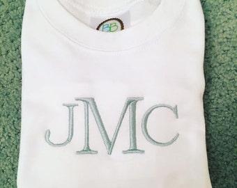 Simple boy's monogrammed shirt