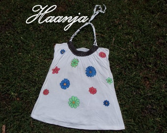 Hand painted flower top