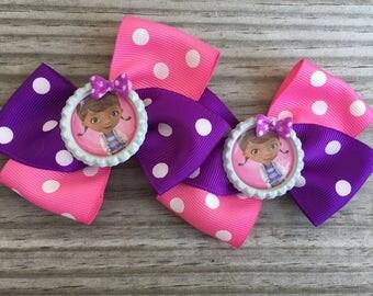 Doc Mcstuffin Bows / Doc Mcstuffin Pig Tails Bows
