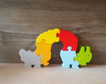 Toy Caterpillar wooden puzzle