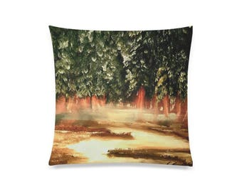"Pillow Cover 20""x20"" +6 other sizes -Winter's Veil- FREE Shipping"