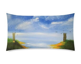 "Rectangle Pillow Case 20""x36"" +3 other sizes -The Guarded Coast- FREE Shipping"