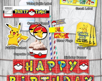 PRINTABLE, Pokemon, Birthday, Party, Printable, DIY