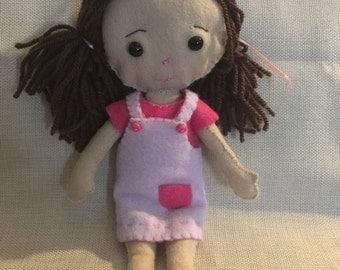 Cute felt doll