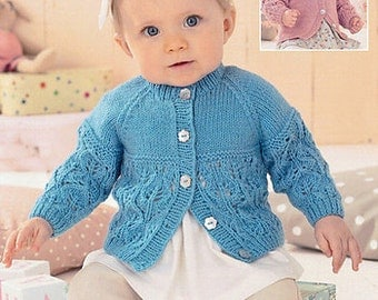 Sweater Knitting Pattern Leaflet Sirdar 1414 Snuggly DK, 0-7 years