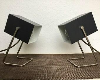 Pair Kaiser Cube 1960s Mid Century Modern