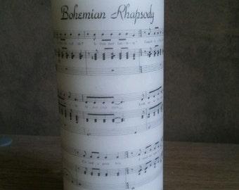 Queen 'Bohemian Rhapsody' Sheet Music Church Candle