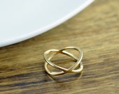 Criss Cross Ring - X Ring - Gold X Ring - X Cross Ring - Gift for Her - Minimalist Jewelry - Minimalist Ring - Daughter Gift