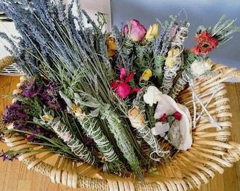 Herb, flowers smudge stick/smudge stick/flowers
