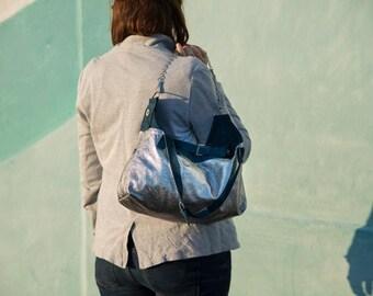 Leather handbag FOF