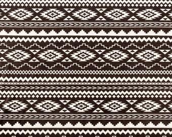 Aztec knit - tribal print knit - geometric print knit - fabric by the yard