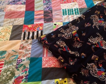 Family, adult patchwork quilt, bed cover