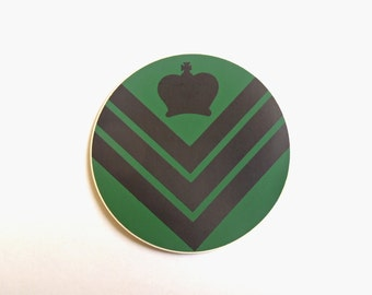 Staff Sergeant CQMS Stickers/Labels - Black/Green - British Army Military - NEW - E112