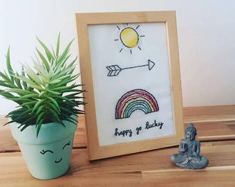 Custom Made Happy go Lucky Embroidery