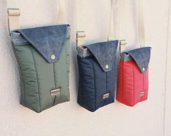 Waxed denim Messenger / shoulder bag waxed denim / backpack