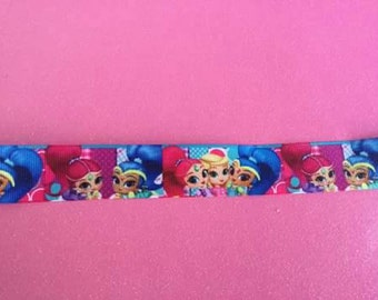 Shimmer and shine one inch printed grosgrain ribbon
