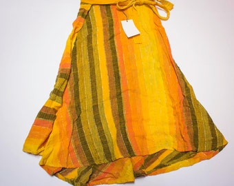 Ethnic wrap skirt hot colors