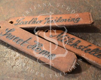 Personalized Keychain leather Keychain original leather from 20s transmission belts Upcycling unique customizable