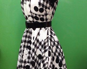 50s Style | Linen Dress | Linen Dress | Dress Made in Italy | Vintage Dress |  Linen Dress | Wheel Dress | Fashion Dress | Italian