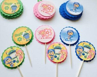 Team Umizoomi Cupcake Toppers