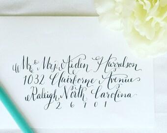 Hand Addressed Envelope Calligraphy- Olivia Style