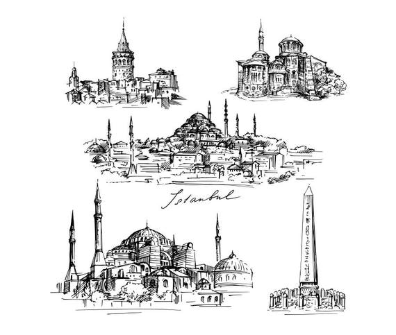 Edificios famosos de Istanbul dibujo dibujo Clip 5 Arte Digital