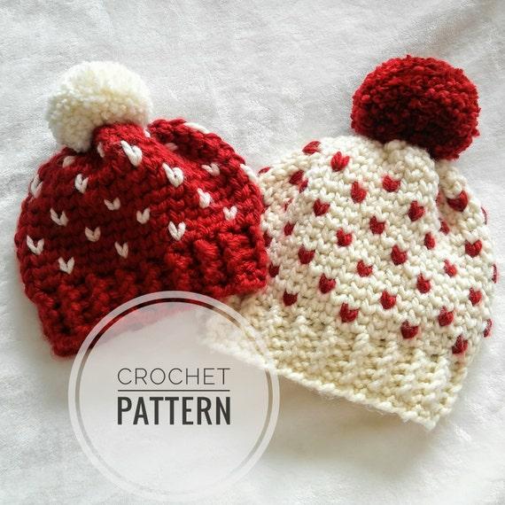Astoria Hat Pattern multiple sizes crochet fair isle pattern
