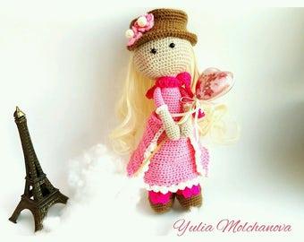 Crochet Pattern Doll Amigurumi Fairy Romance PDF Pattern only (English)