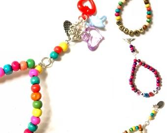Handmade Childrens Tasbeeh/Prayer Beads. Choice of Personalisation. Ramadan Gift.