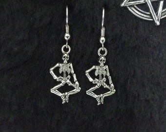 Hanging skeletons Gothic earrings