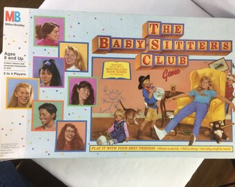 The Babysitters Club Board Game Milton Bradley Vintage 1989
