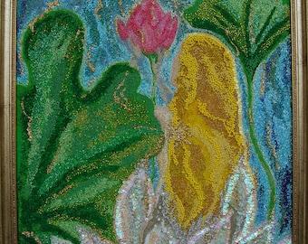 Innocence,Beauty,Beads painting,original mozaic art, Zen  Art,Spiritual gifts,Philosophy,Naked,Rainbow