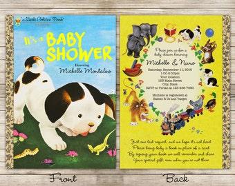 Little Books Poky Little Puppy Baby Shower Digital Invitation