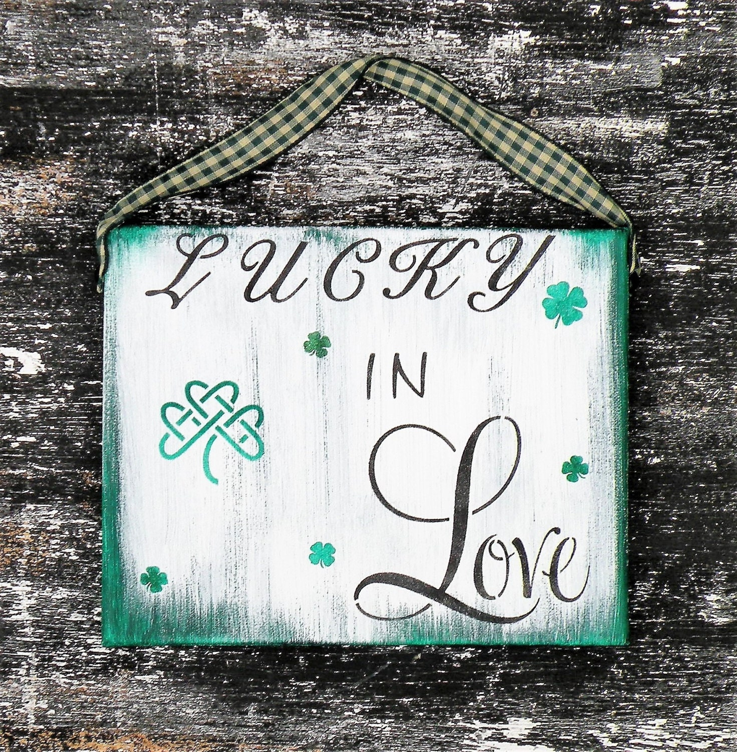 Irish Love Quotes Wedding Awesome Lucky In Love Irish Love Canvas Quote Sign Irish Valentine