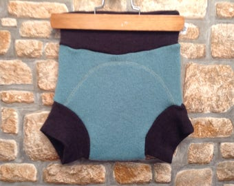 Upcyled wool diaper cover