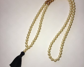 Gold on Gold Tassel Necklace