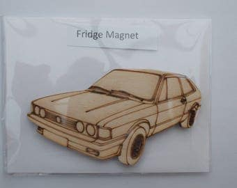 Scirocco Fridge Magnet - Wood etched Scirocco