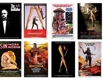 1:25 G scale model movie theater posters set 3